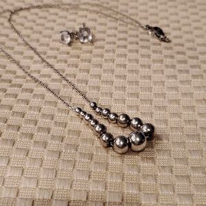 Necklace and CZ Earrings NWOT